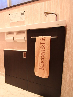 収納付き手洗い器